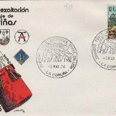Francobolli: 1976 LA CORUÑA , JORNADAS DE EXALTACION ARTESANIA DEL ENCAJE DE CAMARIÑAS . SOBRE ALFIL. Lote 161492122