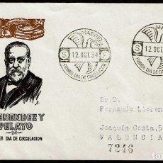 Sellos: SPD ESPAÑA 1954 - MARCELINO MENENDEZ Y PELAYO. Lote 161871218
