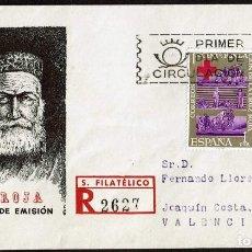 Timbres: SPD ESPAÑA 1963 - CENTENARIO DE LA CRUZ ROJA INTERNACIONAL. Lote 213686330