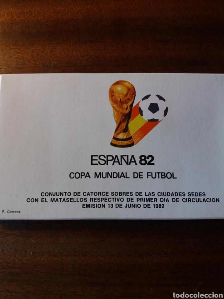 ESPAÑA 82 COPA MUNDIAL DE FÚTBOL (Sellos - Historia Postal - Sello Español - Sobres Primer Día y Matasellos Especiales)