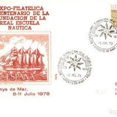 Sellos: EXPOSICIÓN FILATÉLICA FUNDACIÓN REAL ESCUELA NÁUTICA ARENYS DE MAR 8 JULIO 1978 SOBRE ALFIL. Lote 162633190