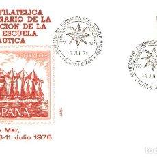 Sellos: EXPOSICIÓN FILATÉLICA FUNDACIÓN REAL ESCUELA NÁUTICA ARENYS DE MAR 8 JULIO 1978 SOBRE ALFIL. Lote 162633278
