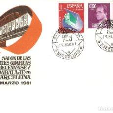 Sellos: SALÓN DE LAS ARTES GRÁFICAS GRAPHISPACK'81 , BARCELONA 11-19 DE MARZO 1981 SOBRE ALFIL. Lote 162697278
