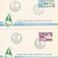 Sellos: ESPAÑA 1990 - SOBRES EXPOSICION FILATELICA DE PORTUGALETE. Lote 162974990