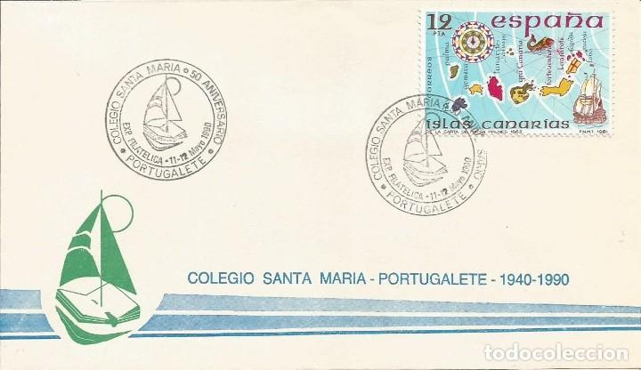 Sellos: ESPAÑA 1990 - SOBRES EXPOSICION FILATELICA DE PORTUGALETE - Foto 2 - 162974990