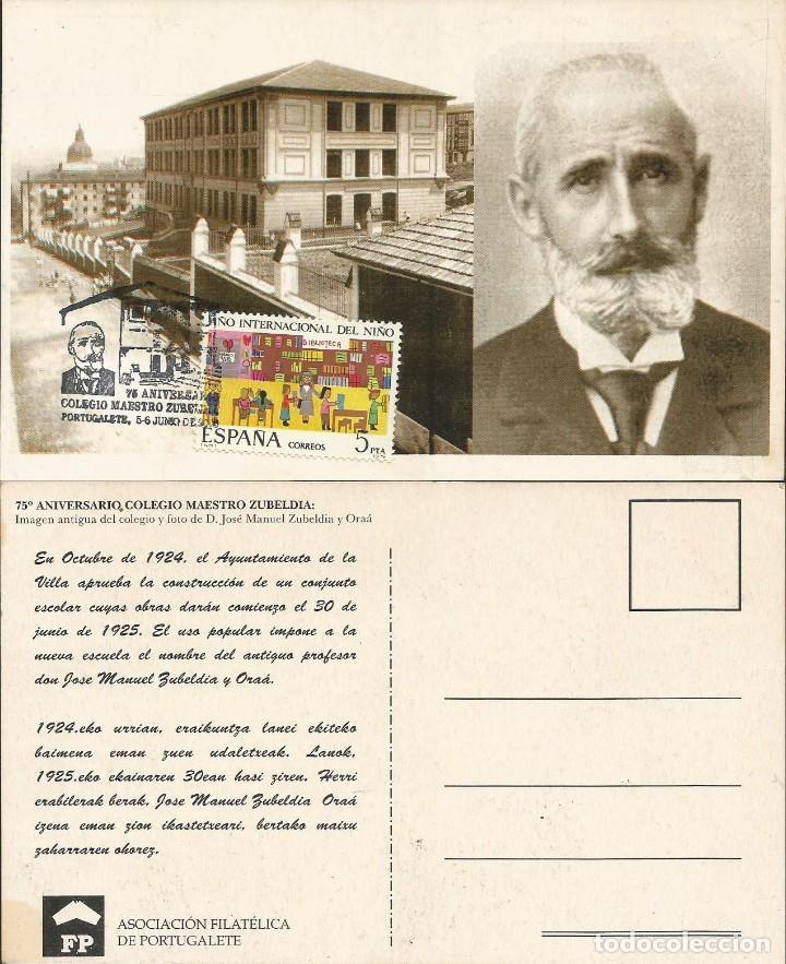 ESPAÑA 2000 - TARJETA CON MATASELLOS CONMEMORATIVO PORTUGALETE (Sellos - Historia Postal - Sello Español - Sobres Primer Día y Matasellos Especiales)