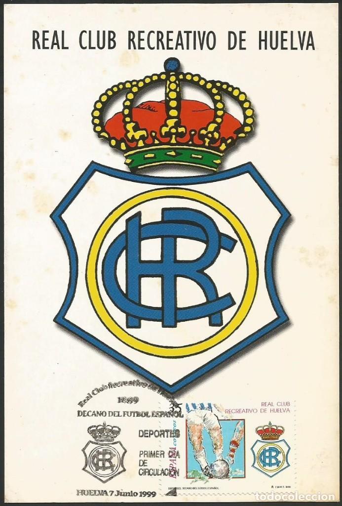 ESPAÑA 1999 - TARJETA CON MATASELLOS CONMEMORATIVO RECREATIVO DE HUELVA #1 (Sellos - Historia Postal - Sello Español - Sobres Primer Día y Matasellos Especiales)