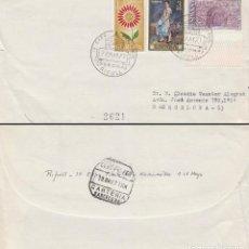 Selos: AÑO 1971, RIPOLL (GIRONA) MONASTERIO, SOBRE CIRCULADO. Lote 163383074