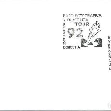 Sellos: 1992. DONOSTIA/SAN SEBASTIÁN. MATASELLOS/POSTMARK. TOUR 92. CICLISMO/CYCLING. DEPORTES/SPORTS.. Lote 163390230