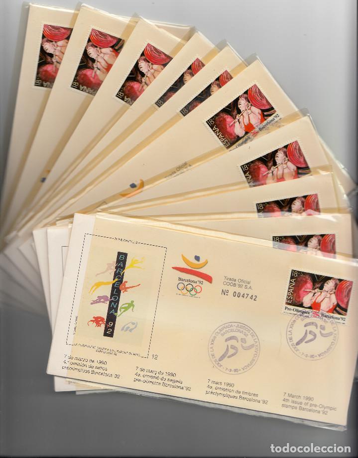 OLIMPIADAS BARCELONA 1992 -10 JUEGOS COMPLETOS DE LA 4A. EMISIÓN --NUM. CORRELATIVOS TOTAL 30 SOBRES (Sellos - Historia Postal - Sello Español - Sobres Primer Día y Matasellos Especiales)