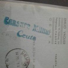 Sellos: CENSURA MILITAR CEUTA. Lote 164072056