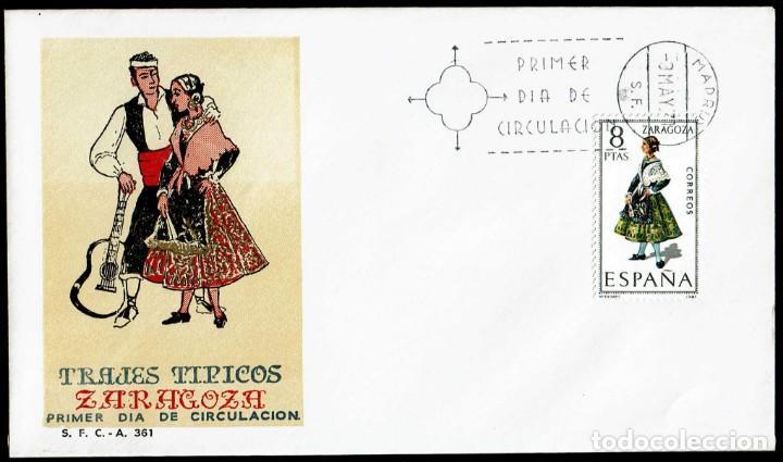 SPD ESPAÑA 1971 - TRAJES TÍPICOS ESPAÑOLES: ZARAGOZA (Sellos - Historia Postal - Sello Español - Sobres Primer Día y Matasellos Especiales)