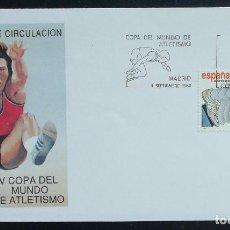 Briefmarken - 1989. Sobre. SPD. Matasello V Copa del Mundo de atletismo. Sello alusivo. Madrid. - 165249302