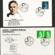 Sellos: ESPAÑA 1979 - I EXPOSICION FILATELICA DE BASAURI - 2 SOBRES. Lote 165425238