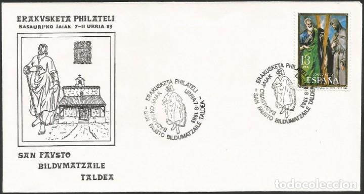 ESPAÑA 1983 - V EXPOSICION FILATELICA DE BASAURI - 1 SOBRE (Sellos - Historia Postal - Sello Español - Sobres Primer Día y Matasellos Especiales)