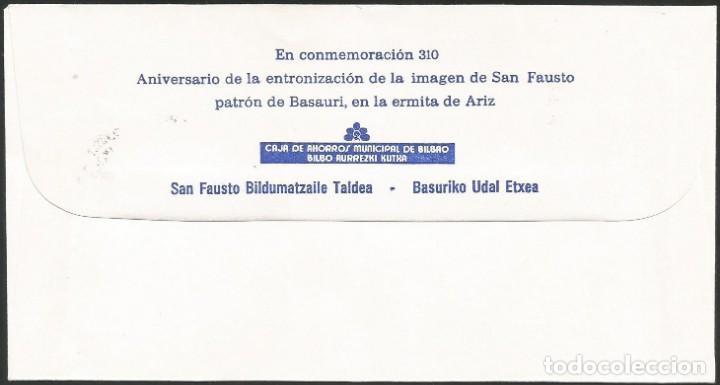 Sellos: ESPAÑA 1983 - V EXPOSICION FILATELICA DE BASAURI - 1 SOBRE - Foto 2 - 165430102