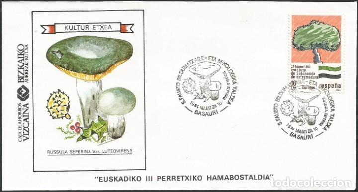 ESPAÑA 1984 - VI EXPOSICION FILATELICA DE BASAURI - 1 SOBRE (Sellos - Historia Postal - Sello Español - Sobres Primer Día y Matasellos Especiales)
