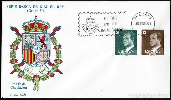 SPD ESPAÑA 1981 - DON JUAN CARLOS I (Sellos - Historia Postal - Sello Español - Sobres Primer Día y Matasellos Especiales)