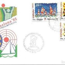 Sellos: 1992. SPD/FDC. BARCELONA'92. VIII SERIE PREOLÍMPICA. JUEGOS OLÍMPICOS/OLYMPIC GAMES. DEPORTES/SPORTS. Lote 165701770