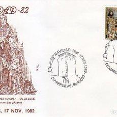 Sellos: RELIGION REYES MAGOS NAVIDAD REAL COLEGIATA COVARRUBIAS (BURGOS) 1982 RARO MATASELLOS EN SOBRE ALFIL. Lote 166305686