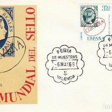 Sellos: AÑO 1969, VALENCIA, FERIA DE MUESTRAS, SOBRE DEL SFC CON SERIE DIA DEL SELLO EN PRIMER DIA. Lote 166541350
