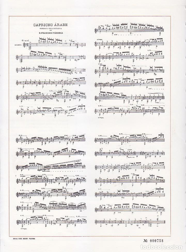 Sellos: MUSICA GUITARRA DIA MUNDIAL FRANCISCO TARREGA VILLARREAL 1980 MATASELLO RODILLO SOBRE + DIPTICO GMPM - Foto 2 - 166620702