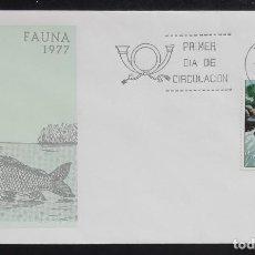 Sellos: 1977. SOBRE. SPD. FAUNA. PESCA DEL SALMÓN. CUÑO MADRID. NUEVO.. Lote 166903440