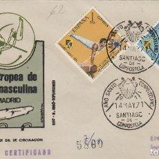 Sellos: 1971 ED 2034/5 X CAMPEONATO GIMNASIA MASCULINA .SOBRE PRIMER DIA- MAT AÑO SANTO COMPOSTELANO . Lote 167967912