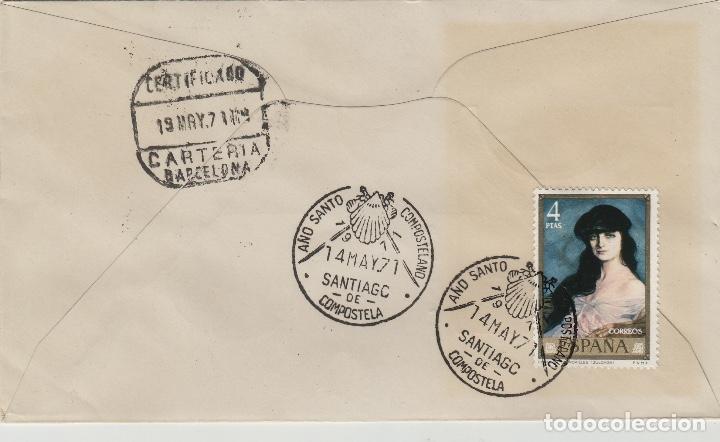 Sellos: 1971 ed 2034/5 X CAMPEONATO GIMNASIA MASCULINA .SOBRE PRIMER DIA- MAT AÑO SANTO COMPOSTELANO - Foto 2 - 167967912