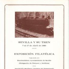 Sellos: DOCUMENTO OFICIAL ASOCIACIÓN AMIGOS DEL FF.CC, SEVILLA Y SU TREN + FOTO. Lote 168055953