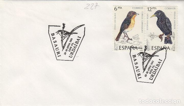 1993 BASAURI ( VIZCAYA ), EXPOSICION FILATÉLICA . SOBRE (Sellos - Historia Postal - Sello Español - Sobres Primer Día y Matasellos Especiales)