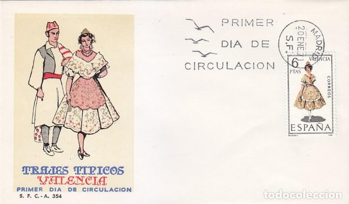 TRAJES TIPICOS ESPAÑOLES 1971 TRAJE DE VALENCIA (EDIFIL 2014) EN SPD DEL SFC MATASELLOS MADRID. (Sellos - Historia Postal - Sello Español - Sobres Primer Día y Matasellos Especiales)