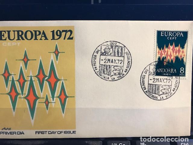 SELLOS ANDORRA EUROPA 1972 EN SPD NUEVO (Sellos - Historia Postal - Sello Español - Sobres Primer Día y Matasellos Especiales)
