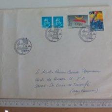 Sellos: XXIV EXPO. FILATELICA-NUMISMATICA : FINUSGAB 91 AIGÜES BARCELONA 1991, SOBRE. Lote 169239168