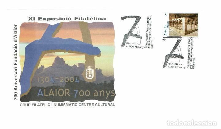 700 ANIVERSARI FUNDACIÓ D'ALAIOR. XI EXPOSICIÓN FILATÈLICA. 2004. (MENORCA.3.4) (Sellos - Historia Postal - Sello Español - Sobres Primer Día y Matasellos Especiales)