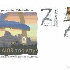 Sellos: 700 ANIVERSARI FUNDACIÓ D'ALAIOR. XI EXPOSICIÓN FILATÈLICA. 2004. (MENORCA.3.4). Lote 169299444