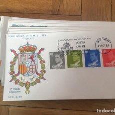 Sellos: R6468 SELLOS SOBRE PRIMER DIA DE CIRCULACION 1981 SERIE BASICA DE S.M. EL REY GRUPO 6º. Lote 169839568
