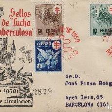 Francobolli: 1950 -PRO TUBERCULOSOS ED 1084/87 - MATASELLOS PRIMER DIA EN SOBRE SFC, CIRCULADO . Lote 170377496