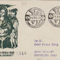Francobolli: 1955 - NAVIDAD , ED 1184 - EN SOBRE PRIMER DIA DE SFC . CIRCULADO. Lote 170526692