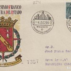 Francobolli: 1956 -XX ANIV EXALTACIÓN CAUDILLO FRANCO A JEFATURA ED 1199 EN SOBRE /SPD PRIMER DIA, SFC CIRCULADO. Lote 170537084