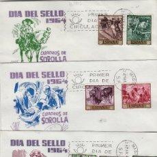 Sellos: 1964 -JOAQUÍN SOROLLA , PINTURA ED 1566/75 EN SOBRE/SPD PRIMER DIA DE DP CIRCULADO. Lote 171197227