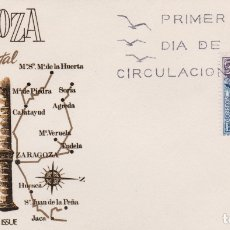 Timbres: SOBRE PRIMER DIA ZARAGOZA, ESPAÑA MONUMENTAL, LA LONJA - JULIO 1970. Lote 171451094