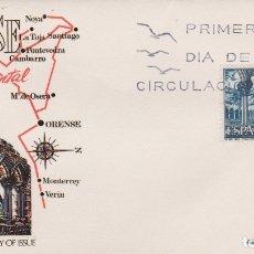 Timbres: SOBRE PRIMER DIA ORENSE, ESPAÑA MONUMENTAL, SAN FRANCISCO - JULIO 1970. Lote 171453830