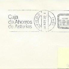 Sellos: 1980. OVIEDO. SPAIN. RODILLO/SLOGAN. CENTº CAJA AHORROS DE ASTURIAS. SAVINGS BANK. ECONOMÍA/ECONOMY.. Lote 171722167