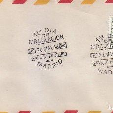 Sellos: GENERAL FRANCO 1948 (EDIFIL 1021) EN SOBRE PRIMER DIA. BONITO Y RARO ASI. MPM.. Lote 171737949