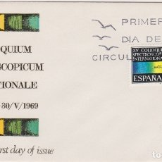 Francobolli: XV COLLOQUIUM SPECTROSCOPIUM INTERNATIONALE - SOBRE PRIMER DIA DE CIRCULACIÓN - 1969. Lote 171802160