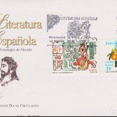 Timbres: LITERATURA ESPAÑOLA, PERSONAJES DE FICCIÓN - SOBRE PRIMER DIA DE CIRCULACIÓN - 2000. Lote 171802603