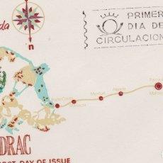 Sellos: CUEVAS DEL DRAC, ESPAÑA PAISAJES DE LEYENDA - SOBRE PRIMER DIA DE CIRCULACIÓN - 1964. Lote 171809087