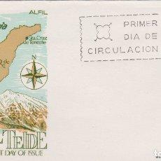 Sellos: EL TEIDE, TENERIFE, LATINA NIVARIA - SOBRE PRIMER DIA DE CIRCULACIÓN - 1964. Lote 171809505