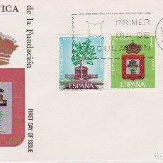 Sellos: VI CENTENARIO DE LA FUNDACIÓN GUERNICA - SOBRE PRIMER DIA DE CIRCULACIÓN - 1966. Lote 171809637